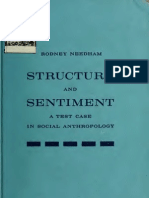 Needham, R Structure and Sentiment a Test Case in Social Anthropology 1962