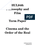 Cinema and the Order of the Real