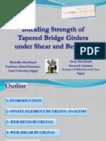 SSRC 2011 Elastic Local Buckling of Web Tapered Bridge Girders