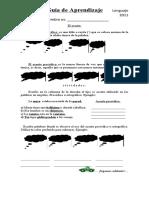 Guía de aprendizaje completa - acentos prosódico - clasificacion de las palabras - uso de mayusculas y minusculas - b y v