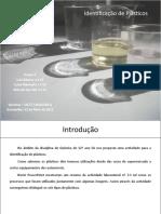 A.L. 1.3 Identificação de Plásticos