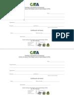 CATA Certificado de Fondos
