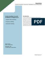 Understanding Acoustic Feedback & Suppressors