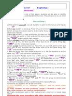 Subject Object Possesive Pronouns
