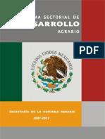 Programa Sectorial de Dearrollo Agrario 2007-2012