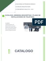 INSTALACIONES Diapositivas y Memoria