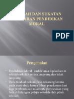 Sejarah Dan Sukatan Pelajaran Pendidikan Moral
