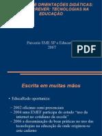 caderno de orientacoes didáticas - tecnologias na educação SMESP