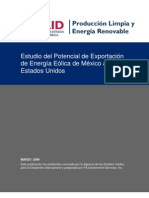 Estudio de Potencial de Exportacion de Energia a USA Desde Mexico