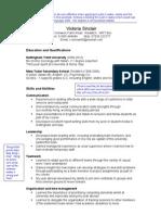 NTU Skills-Based CV