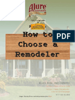How To Choose A Remodeler