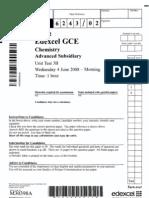 Chemistry AS Unit 3 June 2008