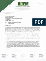 ADEM April 20 2011 Letter From Phillip Davis