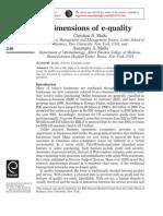 Dimensions of E-quality