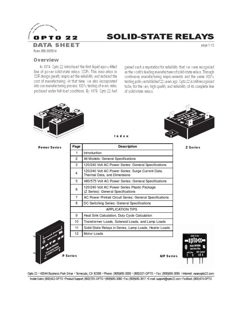 Datasheet Relay Amplifier Opto 22 Wiring Diagram