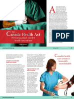 Canada Health Act Preventing Health Care Reform CSR Winter 2011