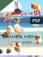 Taino By The Sea Dinner Menu