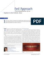 A Simplified Approach to the Immediate Provisionalization of an Implant in the Esthetic Zone 0