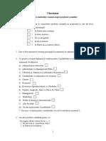 Chestionar -Metodologia Cercetarii_versiunea 2003