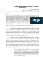 Renata Patrícia da Silva - Teatro e Comunidade reflexões de uma Etnocenlogia participativa na Cia ZAP 18 e bairro Serrano