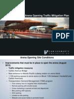 Arena Traffic Mitigation Plan 52311