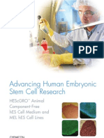 Advancing Human Embryonic Stem Cell Research with HEScGRO Animal Component-Free Medium