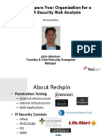 Redspin Webinar How to Prepare Your Organization for a HIPAA Security Risk Analysis