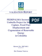 Fedepalma Approved CDM Validation Report