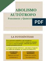 fotosintesis y Quimiosintesis