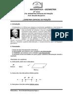 FICHA DE AULA - GEOMETRIA ESPACIAL DE POSIÇÃO