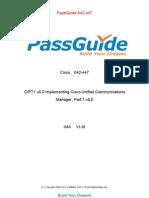 PassGuide 642-447 V3.20