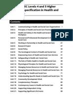 BH023333 HNCD Health and Social Care Units
