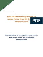 Potenciales áreas de investigación del campo intergeneracional en Iberoamérica