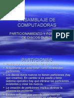 SESION Particionar y Formatear