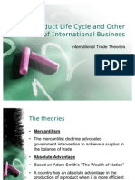 Product Life Cycle and Other Theories of International Business