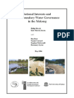 National Interests and Transboundary Water Governance in the Mekong (May 2006)