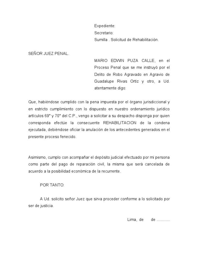 Modelo Solicita Rehabilitacion