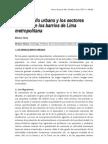 Desarrollo Urbano y Los Ectors Sociales en Los Barrios de Lima