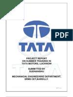 39178405 Summer Training Report at TATA MOTORS