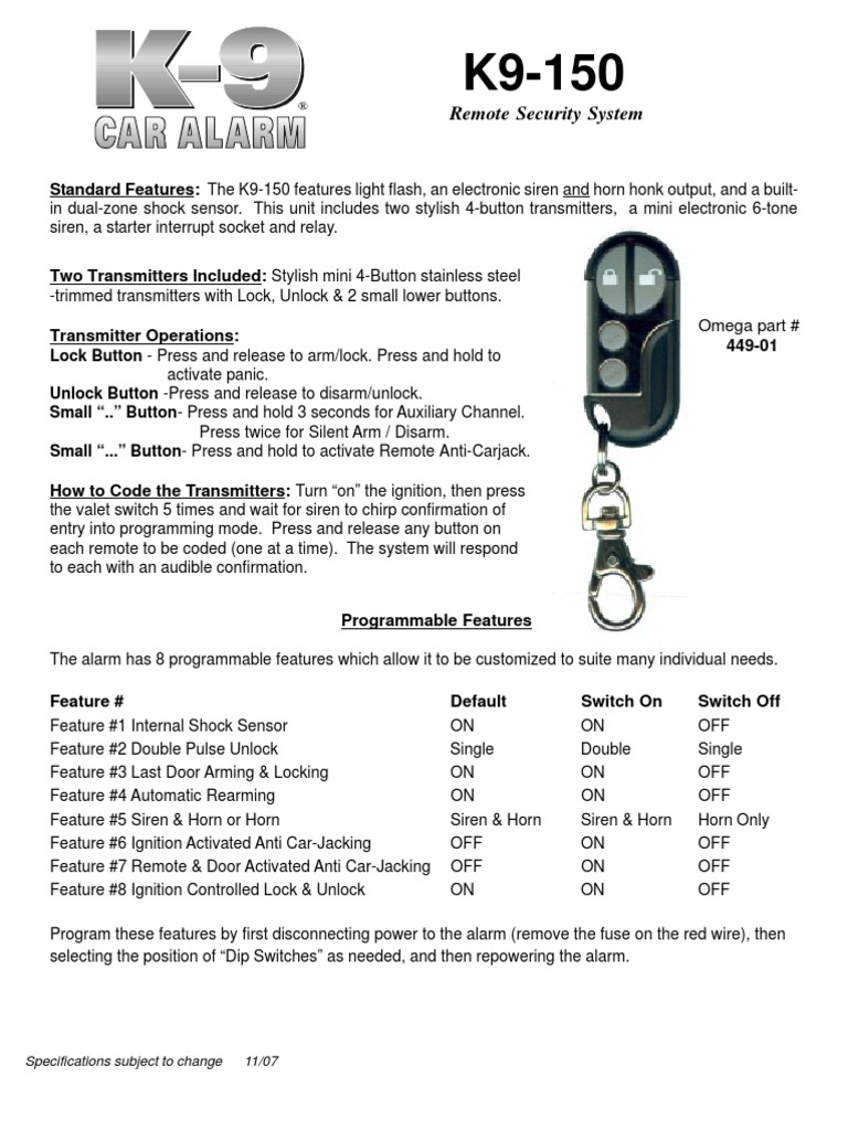 k9-150 | Manufactured Goods | Electrical Engineering