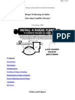 Biogas Technology in In