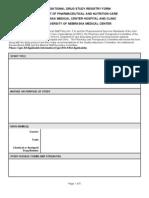 Investigational Drug Study Registry Form 2