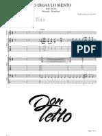 Don Tetto No Digas Lo Siento Tab