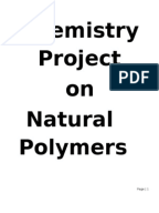 polymerfull chemistry project for class 12 polymers