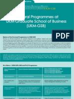 Doctoral Programme UKMGSB