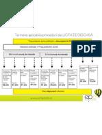 1 - Termene Publicare Anunturi in SEAP Licitatie Deschisa