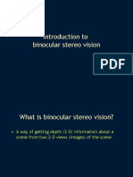 Introduction to Binocular Stereo Vision