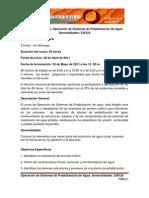 Información curso - Operación de Sistemas de Potabilización de Agua