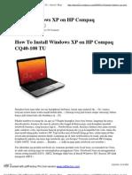 Install Windows XP on HP Co...