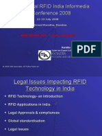 Legal Issues Impacting RFID Technology in India
